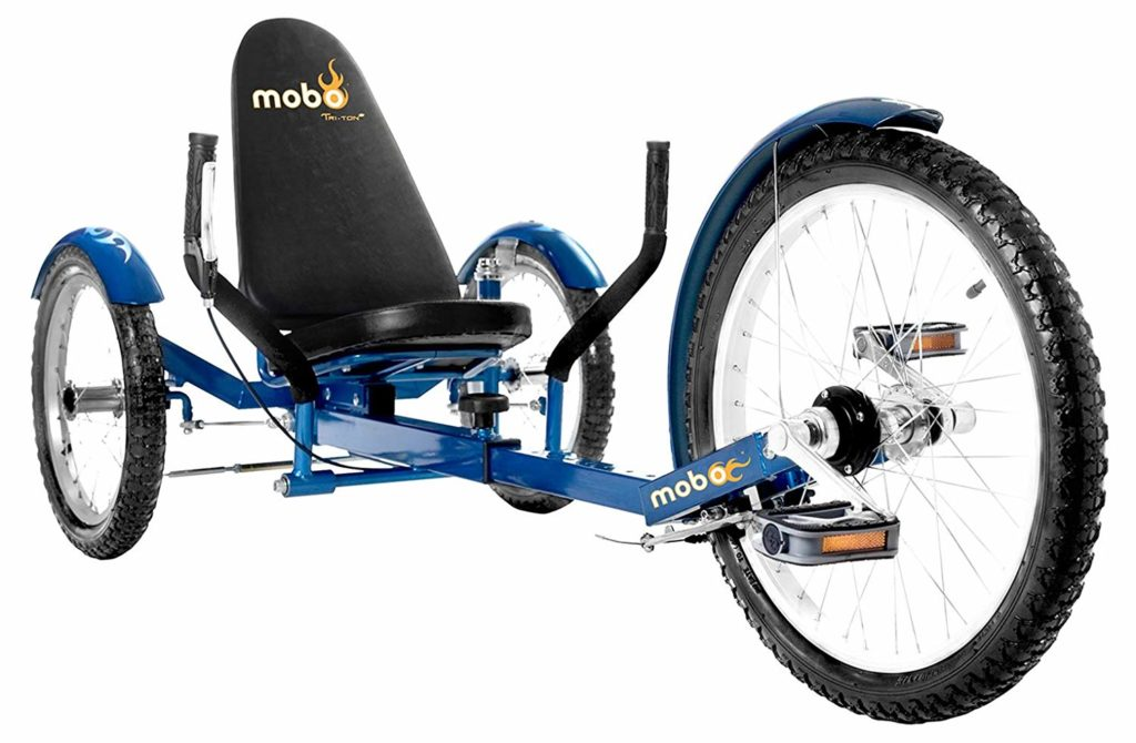 Mobo Triton Pro Adult Tricycle for Men & Women. Beach Cruiser Trike - three wheel bicycles for seniors