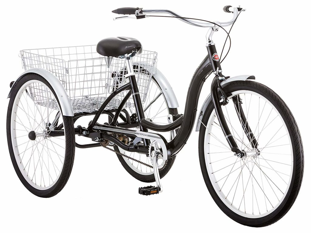 Schwinn Meridian Full Size Adult Tricycle 26 wheel size - 3 wheel bikes for seniors