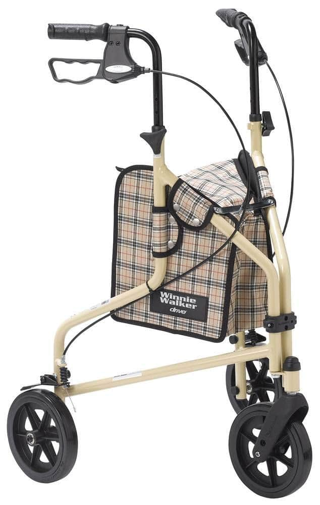 Drive Medical Winnie-Lite Supreme Aluminum Three-Wheeled walkers for elderly