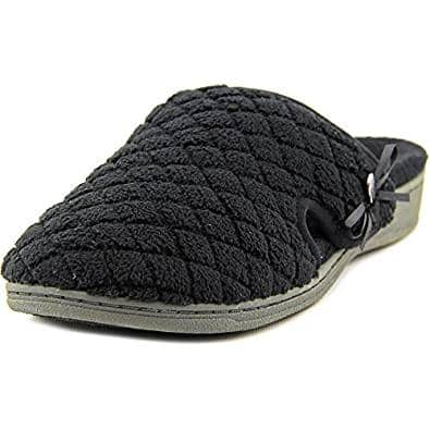 Vionic Adilyn Women's Round-Toe Canvas Slipper - wide slippers for elderly