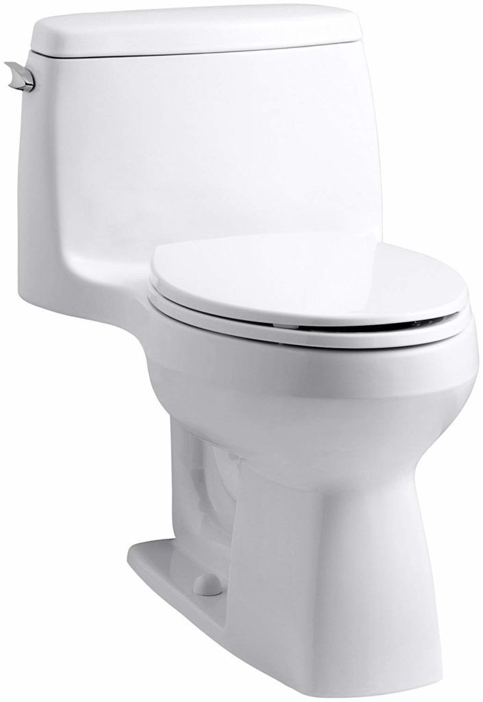 KOHLER 3810-0 Santa Rosa Comfort Height The Best High Toilets for Seniors Reviewed for 20191.28 GPF Toilet with AquaPiston Flush Technology and Left-Hand Trip Lever, White