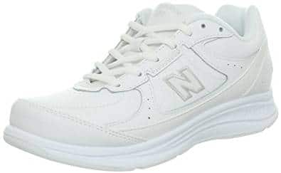 New Balance Womens Leather WW577 Hook & Loop Walking Shoe
