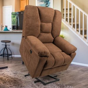 Esright Power Lift Chair Faux reclining chairs for seniors