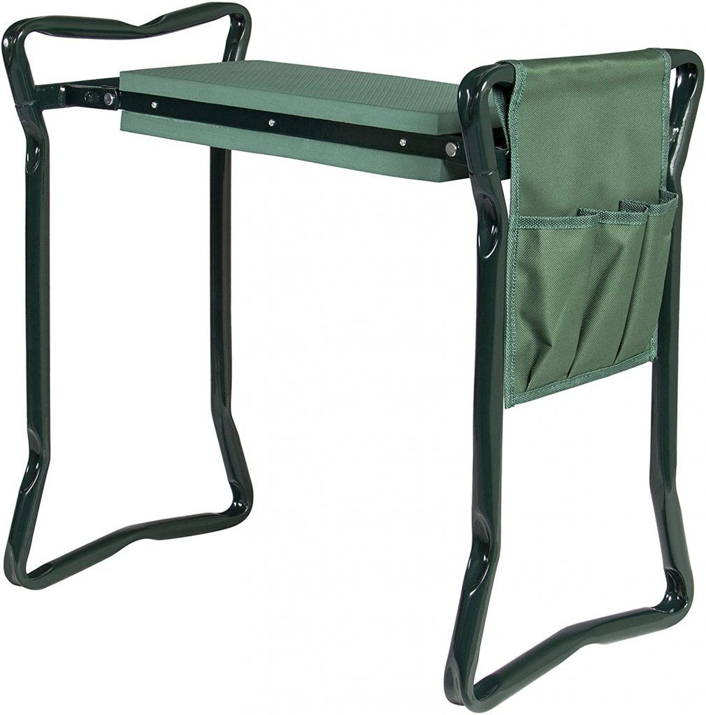 Best Choice Products Foldable Lightweight Garden Stool Kneeler with EVA Foam Pad Seat