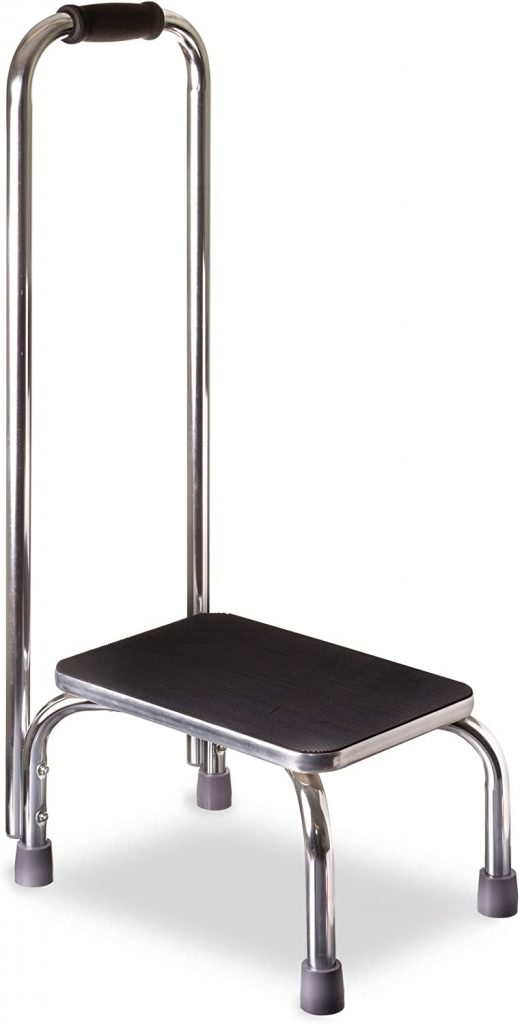 DMI Step Stool with Handle for Adults and Seniors Made of Heavy Duty Metal