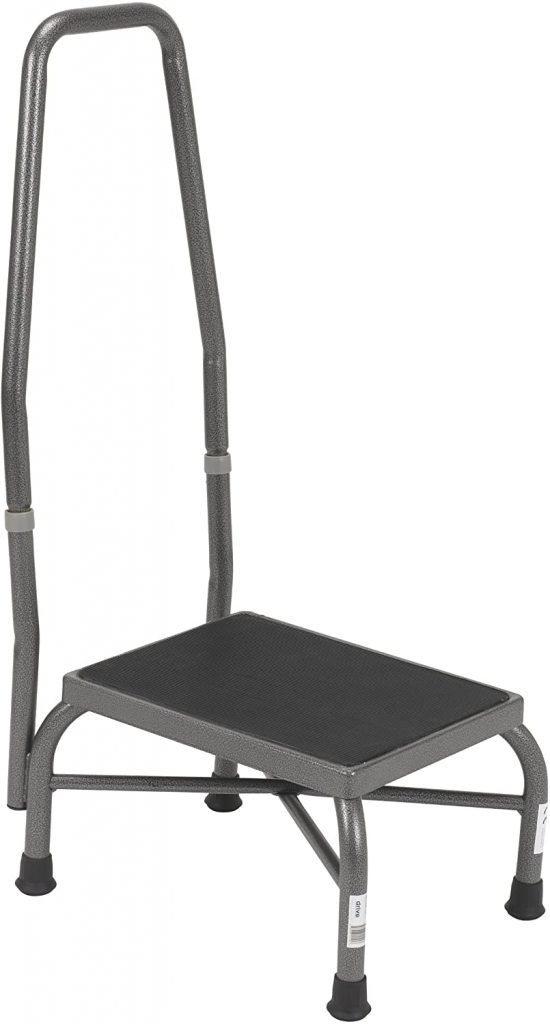 Drive Medical Heavy Duty Bariatric Footstool with Handrail - Best Step Stools for Seniors