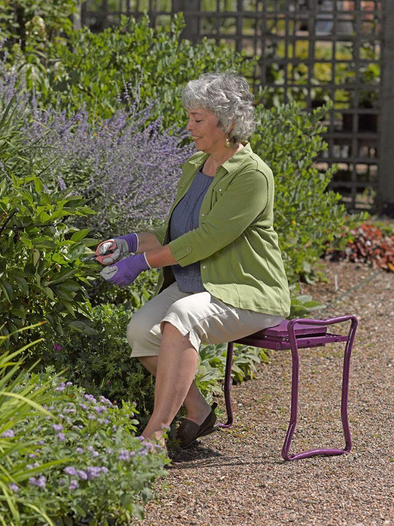 Gardener's Supply Company Extra Wide-Seat Folding Garden Kneeler Green