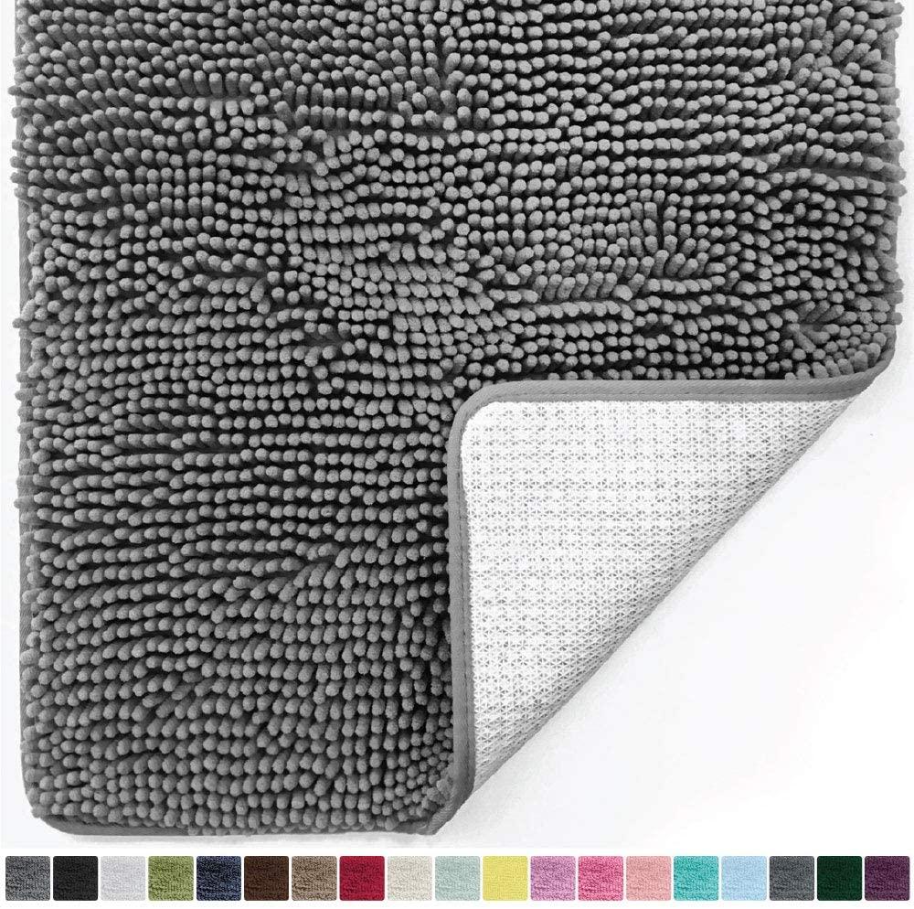 Gorilla Grip Original Luxury Chenille Bathroom Rug Mat