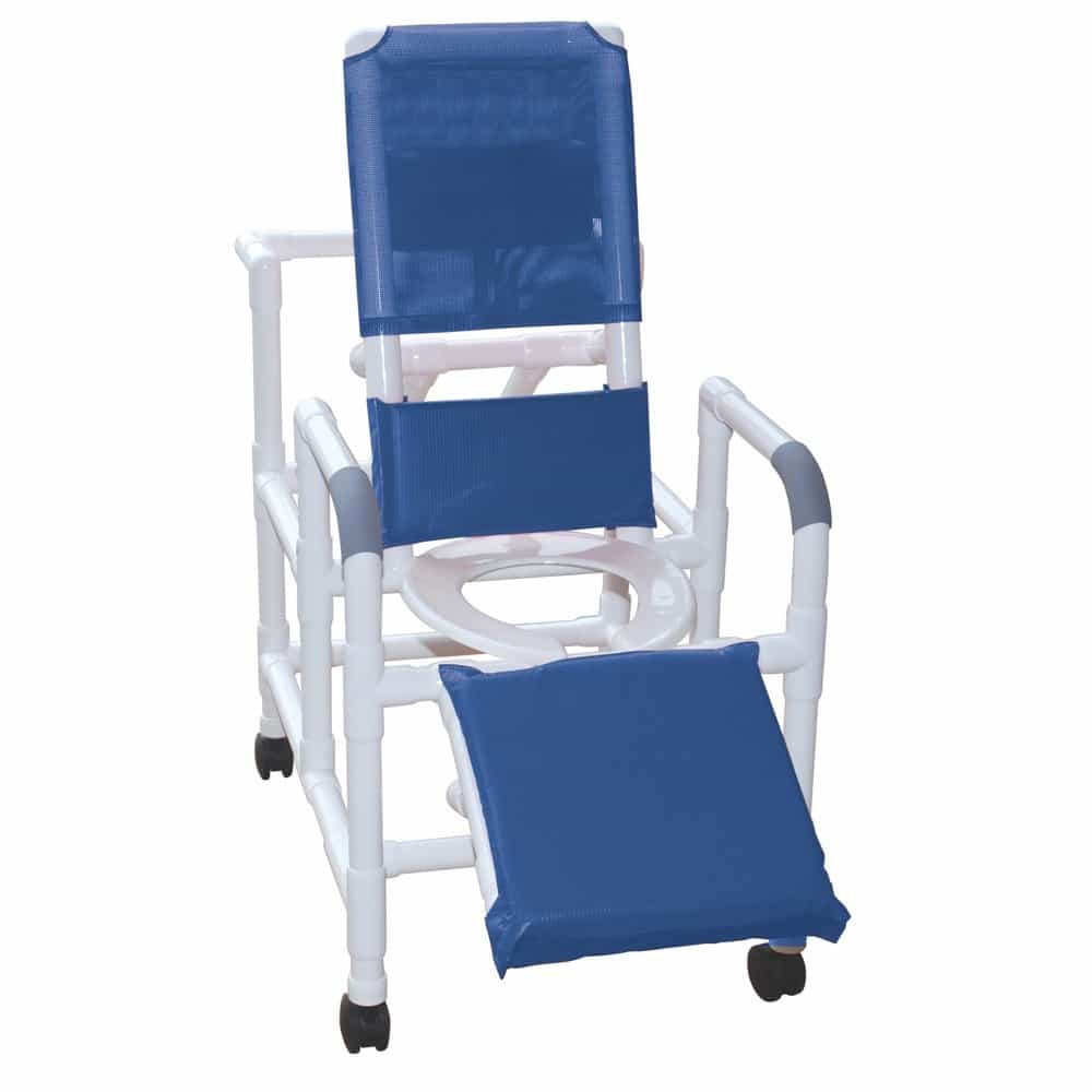 MJM International 193 Reclining Shower Chair with Elevated Leg Extension