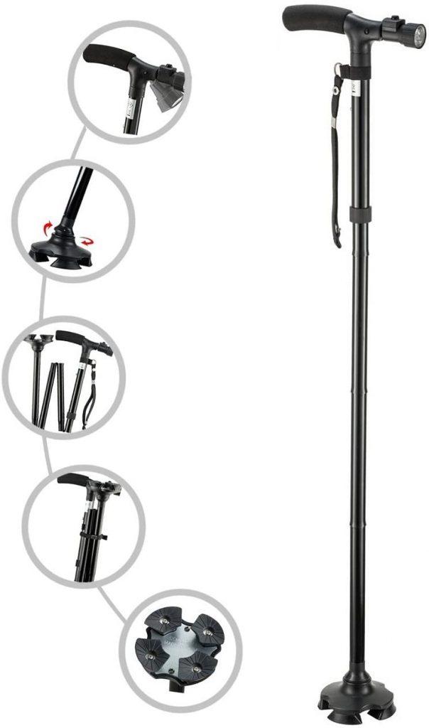 My Cane – Pivoting Quad Base, best walking cane for seniors