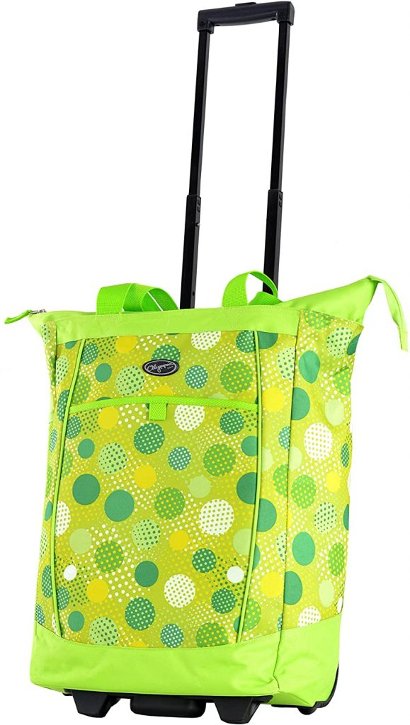 Olympia Fashion Rolling Shopper Tote - best shopping carts for elderly