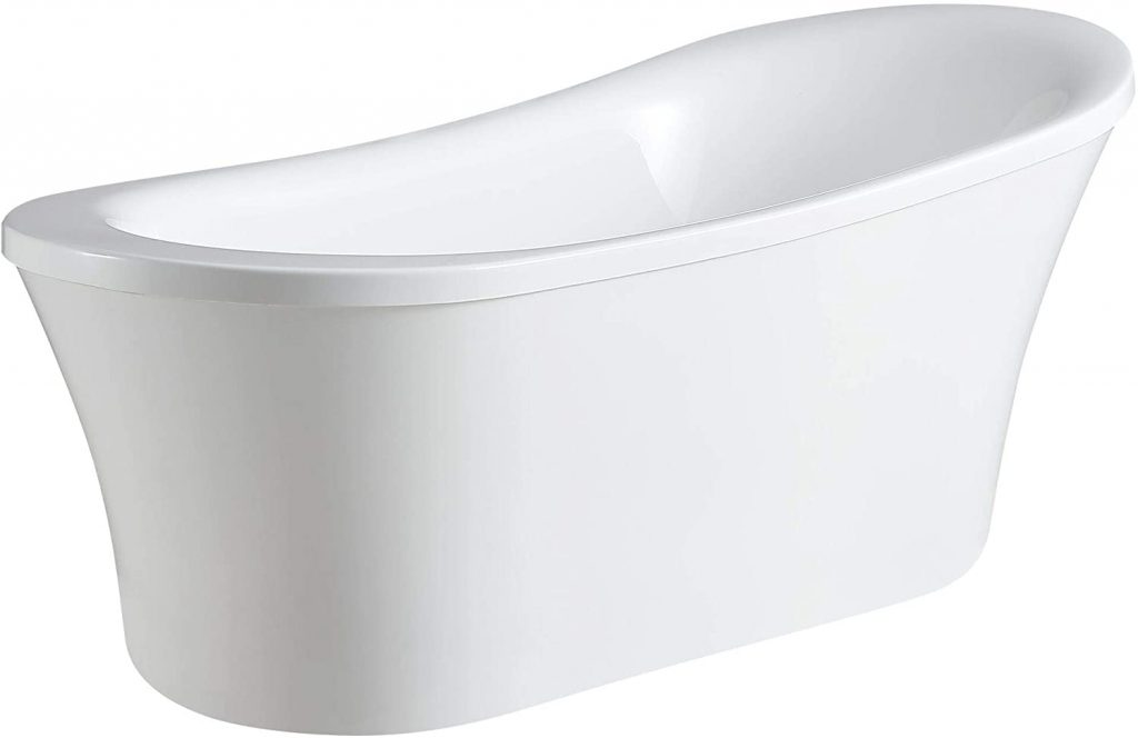 Ove Decors Freestanding Bathtub in Glossy, Contemporary Soaking Tub for old people
