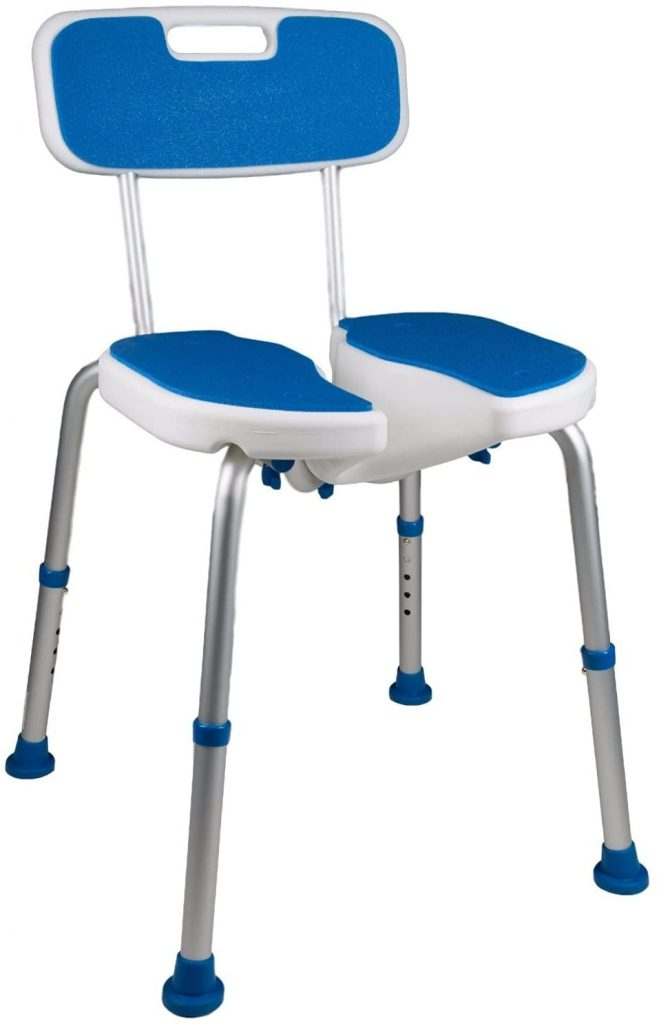 PCP Shower Safety Seat, Cutout for Easy Cleaning