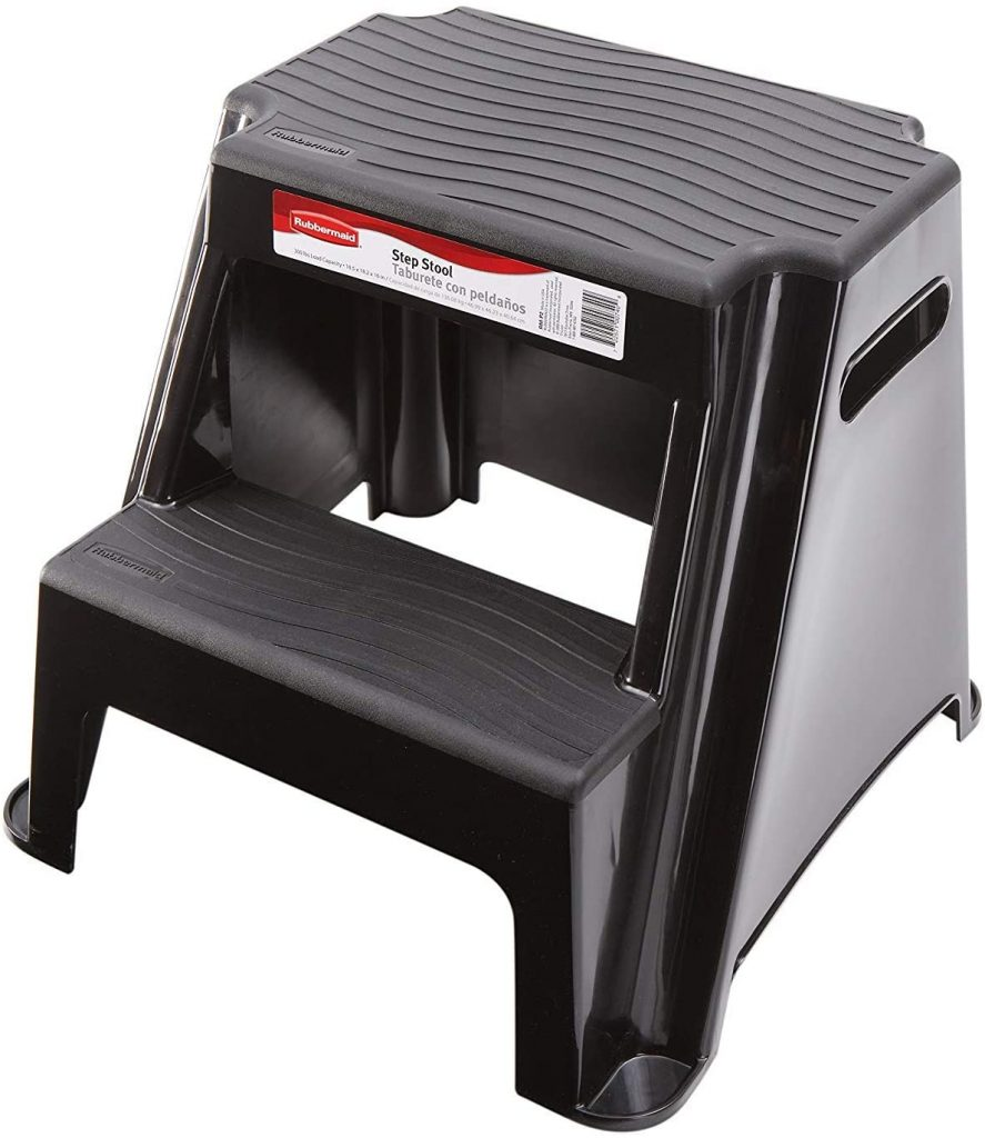 Rubbermaid RM-P2 2-Step Molded Plastic Stool - safe ladders for seniors