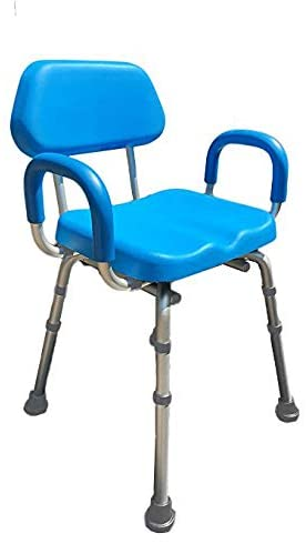 Shower Chair, Bath Chair, Padded with Armrests, Comfortable Deluxe Shower