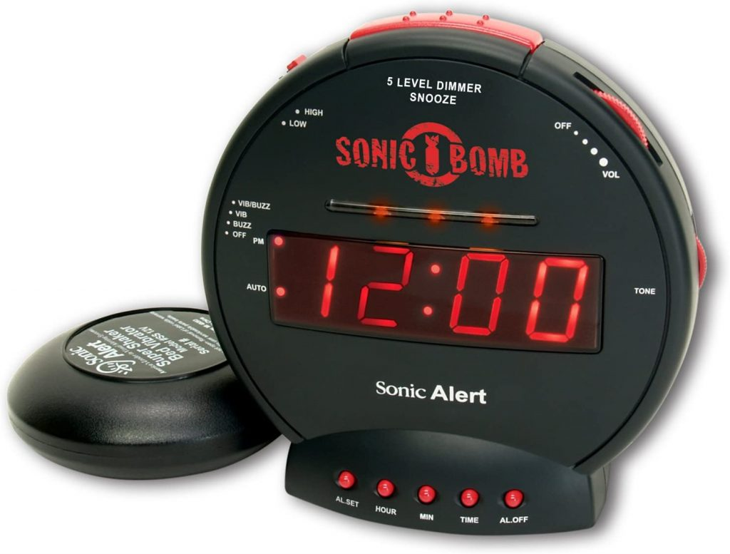 Sonic Bomb Dual Extra Loud Alarm Clock with Bed Shaker
