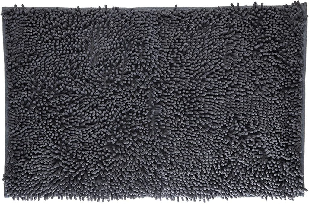 VDOMUS Soft Microfiber Shag Bath Rug - non-slip bath mats for seniors