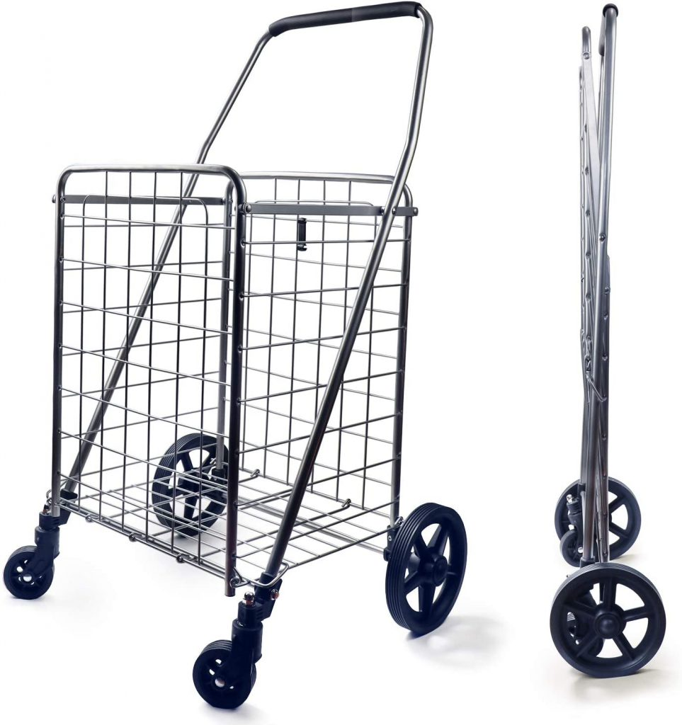 Wellmax WM99024S Grocery Utility Shopping Cart